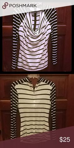 Top Black and white cowl neck/zipper/worn once Guess Tops Blouses