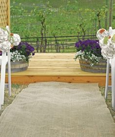Personalized Vineyard Monogram Burlap Wedding Aisle Runner - Wedding Ceremony Items - Rustic Wedding - Wedding Themes - My Wedding