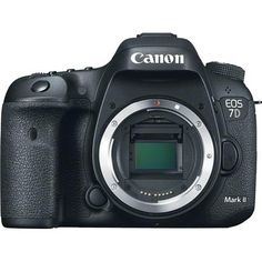 """Canon EOS 7D Mark II DSLR Camera Body, 20.2MP, 3.0"""" Display, Dual Pixel CMOS AF, Full HD 1080p/60 Video, Continuous 10fps Shooting, GPS & Digital Compass"""