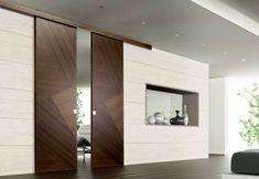 Раздвижные глухие или стеклянные двери и перегородки
