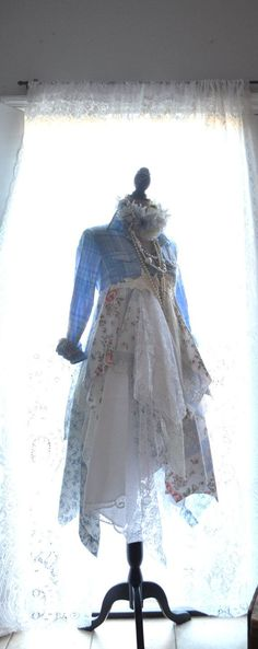 Fall jacket tattered lace linen Gypsy by TrueRebelClothing on Etsy