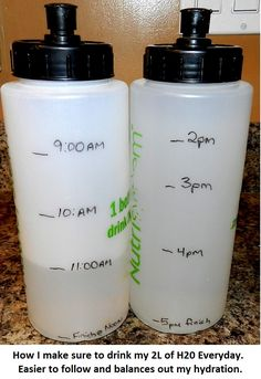 Great way to make sure you're drinking all the water you should!