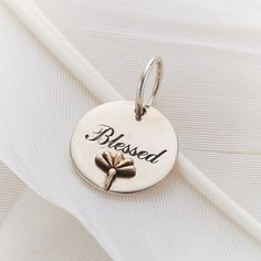 "Palas Jewellery Silver Charm ""Blessed"" available at www.seasonsemporium.com"