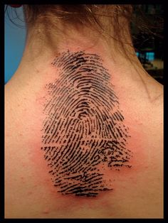 a modification: I want my boyfriends fingerprint, lifesized, in white ink over my heart. He's already left a mark on my heart and like a tatoo, itll be there forever