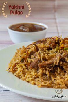 Mutton Yakhni Pulao recipe in Marathi Tofu Recipes, Indian Food Recipes, Paneer Makhani, Recipes In Marathi, Using A Pressure Cooker, Biryani Recipe, Ramadan Recipes, Different Recipes, Street Food