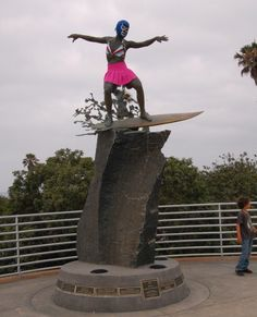 If you drive along the coast on your way to Encinitas you are sure to pass the Cardiff Kook, a statue infamous for the costumes the mischievous locals like to dress it up in.