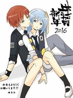 Gender bent!Nagisa and Karma