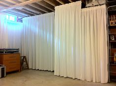 New Curtains for Basement Walls