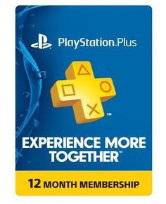 Sony PlayStation Plus 1 Year Membership Subscription Card - NEW! #Sony
