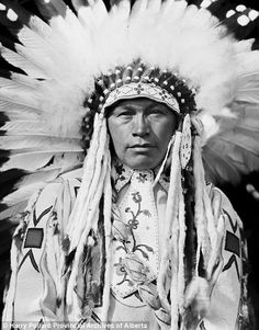 This decorated tribe member was known as Wolfe Teeth of Nakoda Nation
