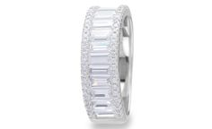 Sterling silver and cubic zirconia crystal eternity dress ring