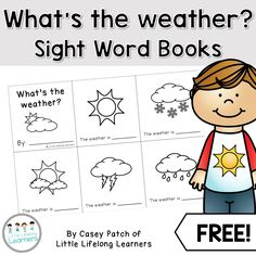 FREE - What's the weather? A Science Sight Word Book Printable. These freebie booklets are a great way to review different types of weather while working on early reading and literacy skills! Also included is a book with blank spaces ready for your students to fill in. This would be perfect to use as an assessment task. | Little Lifelong Learners