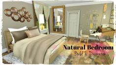 Natural Bedroom at Dinha Gamer via Sims 4 Updates  Check more at http://sims4updates.net/rooms/natural-bedroom-at-dinha-gamer/