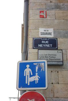 Hacked street names in Lyon