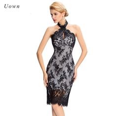 Vintage Black Lace Halter Dress Women Summer Sexy Off the Shoudler Backless Elegant Bodycon Midi Party Dresses Celebrity Outfits