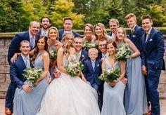 Kiko Bridesmaid Dress in Dusty Blue – Birdy Grey Grey Wedding Theme, Blue And Blush Wedding, Blue Bridal, Wedding Colors For August, Blue Wedding Colors, Wedding Ideas Blue, Military Wedding Colors, Blue Wedding Suit Groom, Navy Bridal Parties