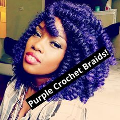 Purple Crochet Box Braids : ... YouTube Box braids Pinterest Box Braids, Crochet Box and Braids