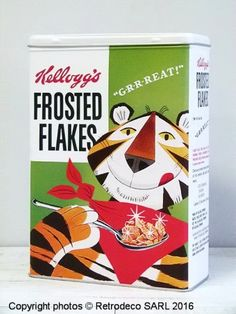 Kelloggs Frosted Flakes Cereal X Fridge / Locker Magnet. Tony the Tiger for Like the Kelloggs Frosted Flakes Cereal X Fridge / Locker Magnet. Tony the Tiger? Retro Advertising, Retro Ads, Vintage Advertisements, Retro Vintage, Vintage Food, 1950s Ads, 1970s, Advertising Signs, Vintage Ladies
