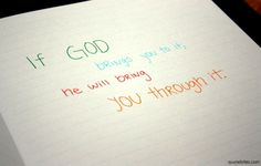 If God brings you to it, He will bring you through it. - The Red Sea Rules