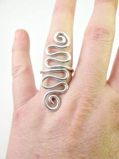 Ring in wire wrapped aluminium (adjustable, color as you wish) (wire wrapping aluminum)