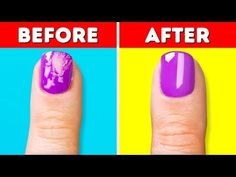 17 COOL MANICURE AND NAIL HACKS - YouTube