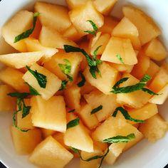 Sugar Kiss Melon & Mint with a splash of lime juice.