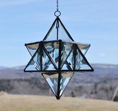 Glass star tetrahedron by lightcurves on Etsy, $430.00