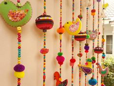 Door decor in 100% Handmade Cute Doll Beads Curtain For Home Decoration