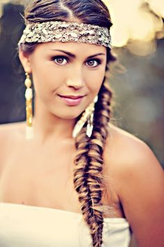 #boho #braid #fishtail #bride #wedding #long #hair #sparkle #headband #sequins #rustic #chic #hippy #longhairdontcare #longhair #hair #hairstyle #hairdesign #haircut #layers #headbands #hairpieces  @Cindy Craig dmngz this is SCREAMING SHELAH!!! This is it.... That is what I want