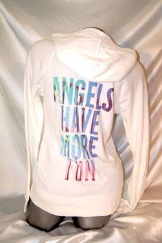 SMALL~VICTORIAS SECRET ANGEL WING HOODIE SUPERMODEL ESSENTIALS FLEECE PURPLE~NWT #VICTORIASSECRET #Hoodie