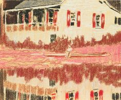 iArt - Peter Doig (b. 1959), Camp Forestia, 1996. pastel...