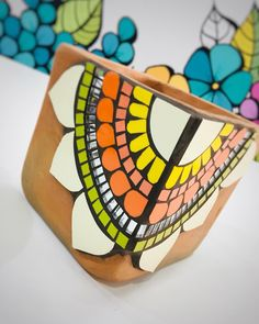 Mosaic Crafts, Mosaic Art, Cube, Craft Ideas, Garden, Vases, Mosaic Tiles, Decorated Flower Pots, Mosaic Flower Pots