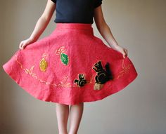 1950s Felt Circle skirt size 4t/5t/Slim 6 by salvagehouse on Etsy, $20.00
