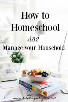 Homeschooling and keeping your house running is hard. We have to make a choice between the two. Here are the ways I have household management with school.