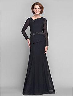 Thelma  Trumpet/Mermaid V-neck Chiffon Mother of the Bride Dress (61... – USD $ 179.99