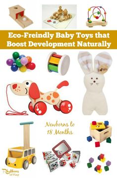 Toys made of wood and other natural materials provide a rich sensory experience for the developing baby. This gift guide contains eco-friendly Waldorf and Montessori baby toys that boost development naturally.
