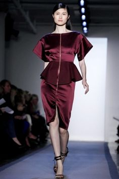 Peter Som Fall 2012.  Back to the future...a very 80's look.