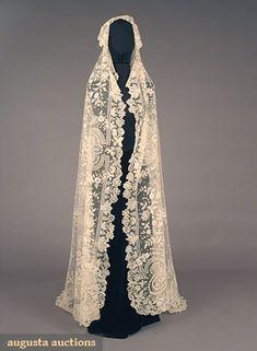 Brussels Lace Wedding Veil, 1860-1880