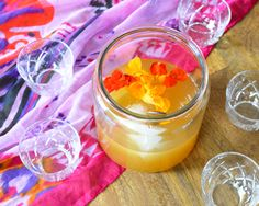 Delicious rum punch recipe with fresh citrus and vanilla bean and cinnamon simple syrup. #SunsOutRumsOut