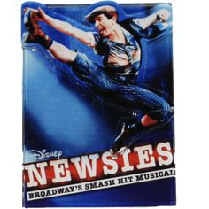 Acrylic magnet with die cutout dancer and the Newsies logo. Broadway Theatre, Theater, Musicals, Magnets, Dancer, Logos, Disney, Gifts, Presents
