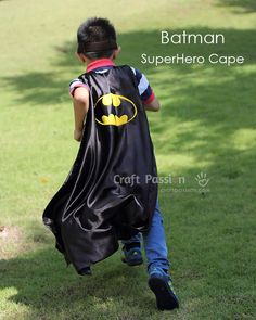 Need a last minute Superhero Cape? Sew this quick Batman Superhero Cape in an evening. The batman cape has inverted scallop edging (bat wing) at the bottom and a valcro fastener at the collar. You don't need a drafted pattern to sew this Batman superhero