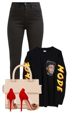 """""""Sem título #1281"""" by mariahportuguesa ❤ liked on Polyvore featuring Levi's, Givenchy and Gianvito Rossi"""