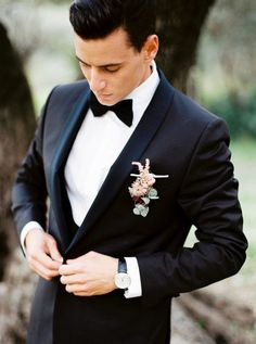 Whimsical Wedding Inspiration in Provence Wedding Sparrow l'Artisan Photographe Wedding Tux, Wedding Poses, Wedding Attire, Black Tuxedo Wedding, Wedding Ideas, Trendy Wedding, Elegant Wedding, Wedding Blog, Wedding Ceremony
