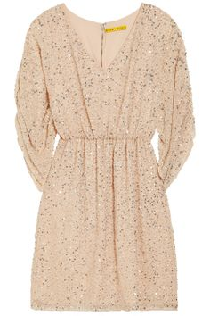 Alice + Olivia|Olympia sequined silk-chiffon dress|NET-A-PORTER.COM
