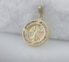 14K Guadalupe Necklace 14K Gold Our Lady of by Alyssasdreams