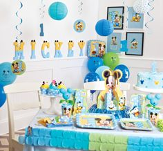 Mickey Mouse 1st Birthday Party Pack & Decorations