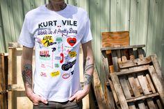 Kurt Vile: Steve Powers (White) T-Shirt, $17.00
