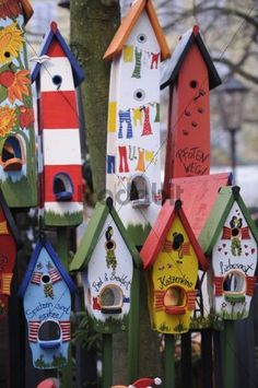 Image detail for -Painted birdhouses - Download Pictures / Graphics