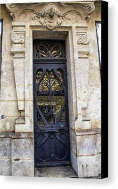 Agen France Blue Door Canvas Print by Georgia Fowler.  All canvas prints are professionally printed, assembled, and shipped within 3 - 4 business days and delivered ready-to-hang on your wall. Choose from multiple print sizes, border colors, and canvas materials.