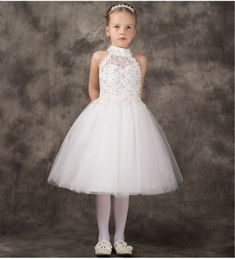 bd519c4cc0bfd1 2017 New A-Line Flower Girls Dresses For Wedding Tulle Party Dress With  Hade Make Communion Dresses Lace Mother Daughter Dresses